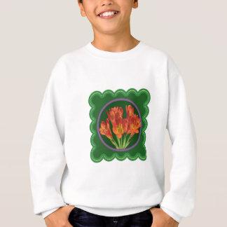 エレガントで赤い花の花花束100のギフト スウェットシャツ