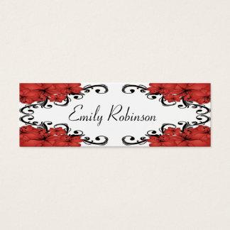 エレガントで赤くおよび黒い花 スキニー名刺