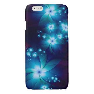 エレガントで青いフラクタルの花