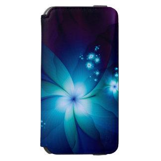 エレガントで青いフラクタルの花 INCIPIO WATSON™ iPhone 5 財布型ケース