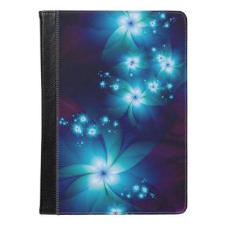 エレガントで青いフラクタルの花 iPad AIRケース