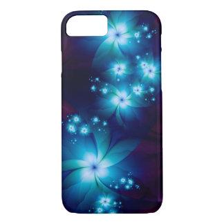 エレガントで青いフラクタルの花 iPhone 8/7ケース