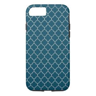 エレガントで青いモロッコパターン iPhone 8/7ケース