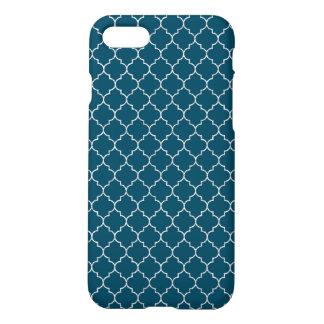 エレガントで青いモロッコパターン iPhone 8/7 ケース