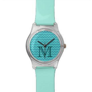 エレガントで魅力的でガーリーなシェブロンのモノグラム 腕時計