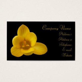 エレガントで黄色いクロッカスのカスタムな名刺 名刺