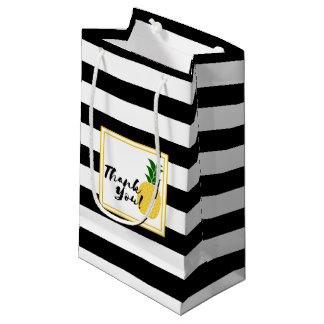 エレガントで黄色いパイナップルは感謝していしています スモールペーパーバッグ