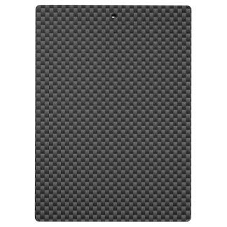エレガントで黒いカーボン繊維のスタイルのプリントの背景 クリップボード