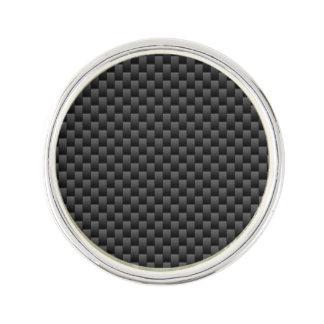 エレガントで黒いカーボン繊維のスタイルのプリントの背景 ラペルピン