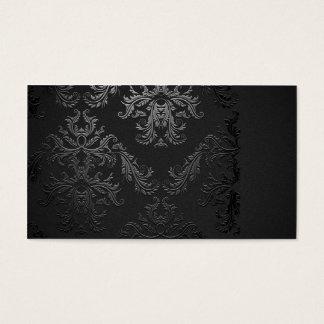 エレガントで黒いダマスク織の名刺のテンプレート 名刺