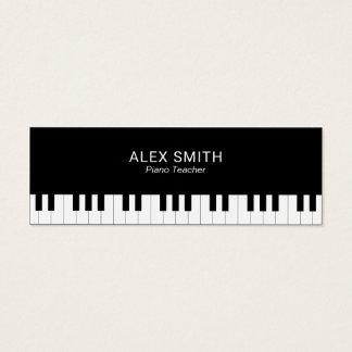 エレガントで黒いピアノの教師の名刺 スキニー名刺