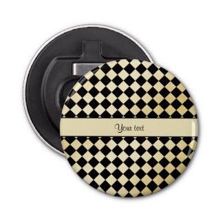 エレガントで黒く及び模造のな金ゴールドのチェッカー 栓抜き