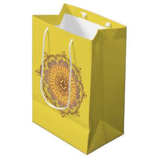 エレガントで、カラフルな曼荼羅の中型の好意のバッグ ミディアムペーパーバッグ