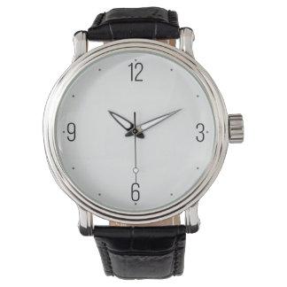 エレガントで、シンプルな白黒メンズウォッチ 腕時計