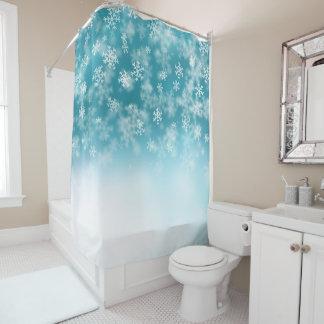 エレガントで、美しいクリスマスの雪片 のカーテン シャワーカーテン