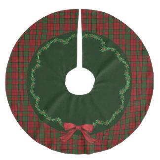 エレガントなお祝いのスコットランド人のDunbarの格子縞の木のスカート ブラッシュドポリエステルツリースカート