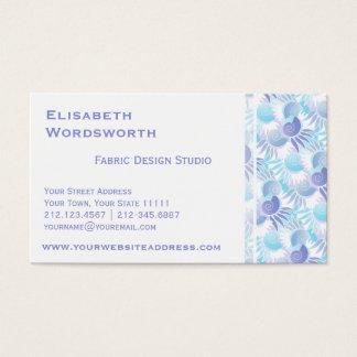 エレガントなかわいらしいパステル調の水および紫色のアールデコ 名刺