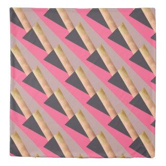 エレガントなひよこのばら色の金ゴールドのピンク灰色色のブロック 掛け布団カバー