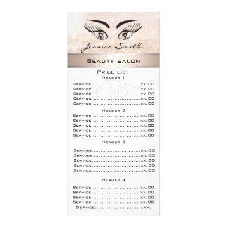 エレガントなまつげ及び眉毛きらびやかなメニューカード ラックカードデザイン