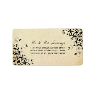 エレガントなアンティークはラベル結婚式の渦巻きます 宛名ラベル