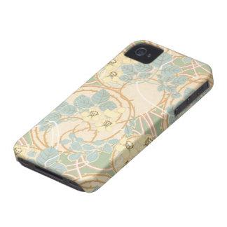 エレガントなアールヌーボーの夏の花柄パターン Case-Mate iPhone 4 ケース