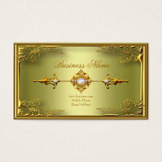 エレガントなエリートのアボカドの緑金ゴールドのプロフィールカード 名刺