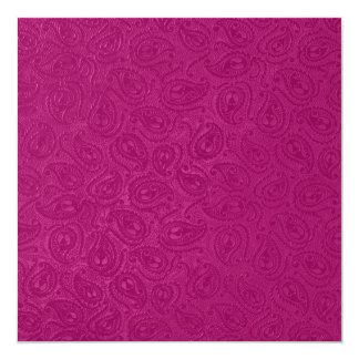 エレガントなエンボスのピンクのペイズリーの黒のパーティー カード