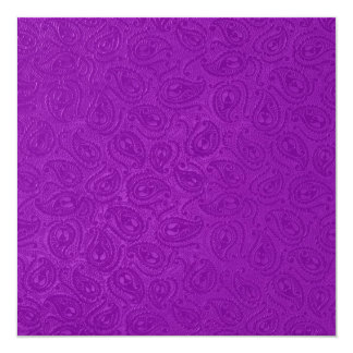 エレガントなエンボスの紫色のペイズリーの黒のパーティー カード
