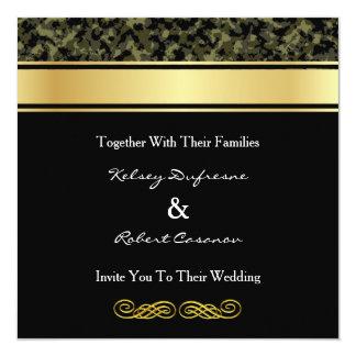 エレガントなカムフラージュの結婚式招待状 カード