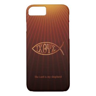 エレガントなキリスト教の魚の記号Ichthys iPhone 7ケース