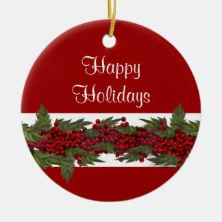 エレガントなクリスマスの挨拶は個人化なります セラミックオーナメント
