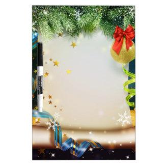 エレガントなクリスマスの装飾 ホワイトボード