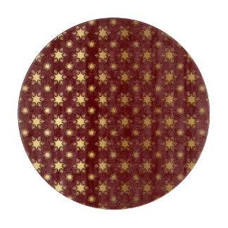 エレガントなクリスマスの雪片の金ゴールドホイルパターン カッティングボード