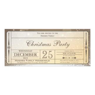 エレガントなクリスマス・パーティのチケットの招待状 10.2 X 23.5 インビテーションカード