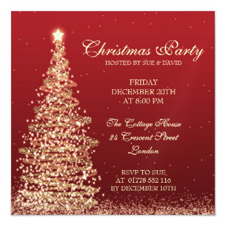 エレガントなクリスマス・パーティのレッド・カード マグネットカード