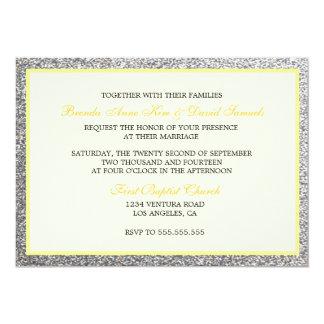エレガントなグリッターの結婚式招待状 カード