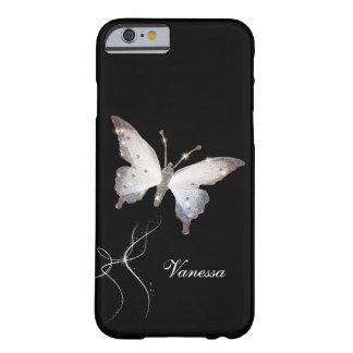 エレガントなグリッターの輝きの魅力の蝶および名前 BARELY THERE iPhone 6 ケース