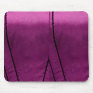 エレガントなサテンの絹生地の一見-あなたの文字を加えて下さい マウスパッド