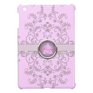 エレガントなシェブロンのピンクのモノグラムのiPad Miniケース iPad Miniケース