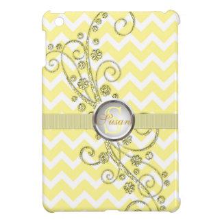 エレガントなシェブロンの黄色いモノグラムのiPad Miniケース iPad Miniケース