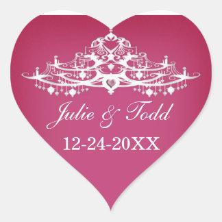 エレガントなシャンデリアの保存日付の結婚式 ハートシール