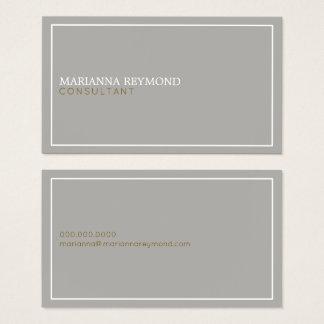 エレガントなシンプルでミニマルな基本的な灰色のコンサルタント 名刺