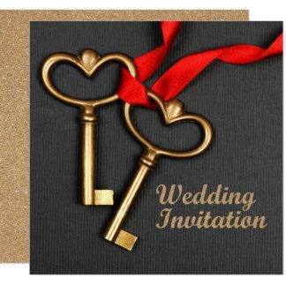 エレガントなスタイルの結婚式招待状 カード