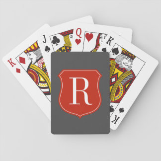 エレガントなタイポグラフィのモノグラムのな遊ぶカード トランプ