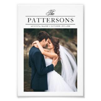 エレガントなタイポグラフィの名前入りな結婚式の写真 フォトプリント