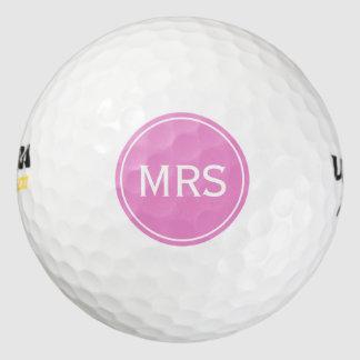 エレガントなタイポグラフィの氏および夫人ピンクのゴルフ・ボール ゴルフボール