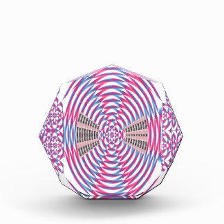 エレガントなダイヤモンドのピンクの螺線形 表彰盾