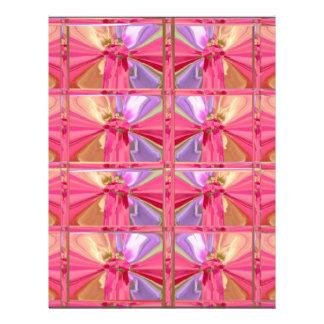 エレガントなダイヤモンドパターンローズピンクのスマイルの幸せなショー レターヘッド