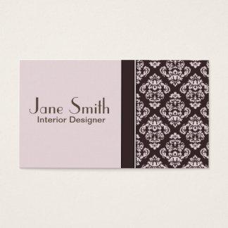 エレガントなダマスク織の花の専門のスタイリッシュな上品 スタンダード名刺