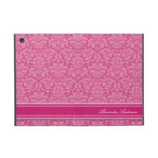 エレガントなダマスク織のiPad Miniケース(明るい赤紫色) iPad Mini ケース